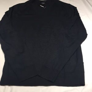 NWT merino wool blend v-neck sweater